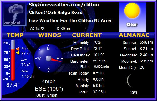 Live Conditions in Clifton, NJ